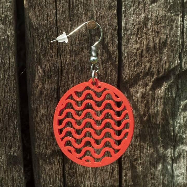 Earrings Waves 2.1