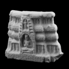 A fragment of a votive chaitya pedestal at The State Hermitage Museum, St Petersburg