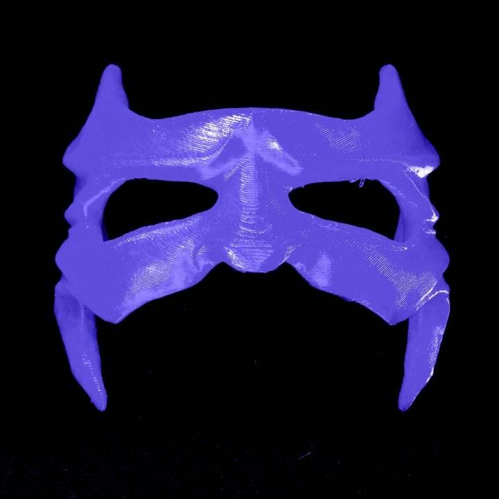 image regarding Batgirl Mask Printable called 3D Printable batgirl breathtaking mask by means of Matteo Sgherri