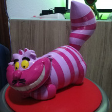 Picture of print of Cheshire Cat 这个打印已上传 xerbar3d