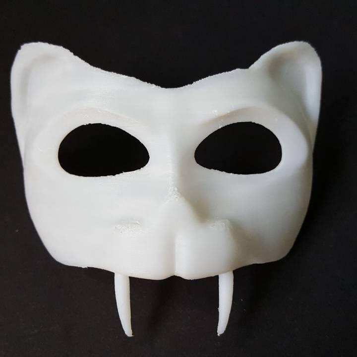 photograph relating to Printable Tiger Mask named 3D Printable Tiger Mask by way of Khaled Alkayed