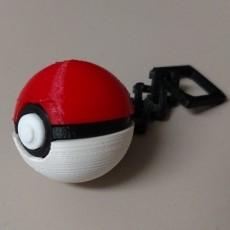 Pokeball Keychain with links