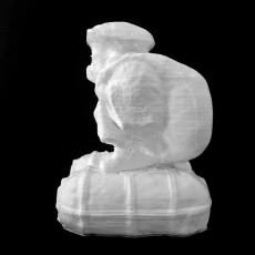 Statue of the lucky god Daikokuten at The British Museum, London