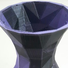 Picture of print of Simple Faceted Vase