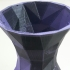 Simple Faceted Vase print image