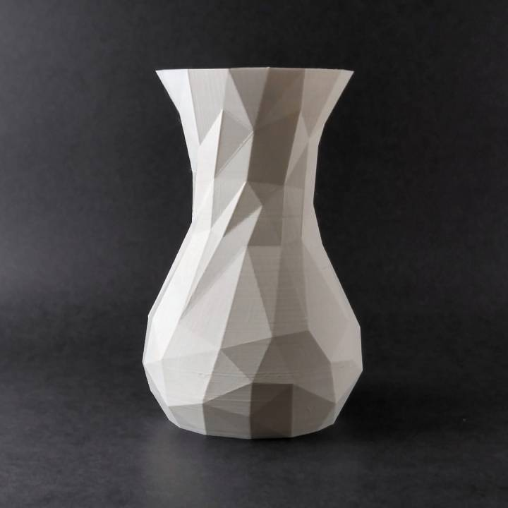 Simple Faceted Vase