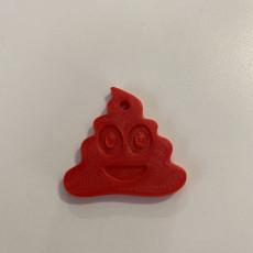Picture of print of Poop Emoji Keychain