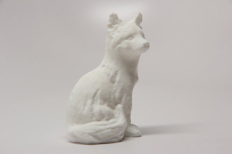 3d Printable Sitting Fox By Steve Dakh