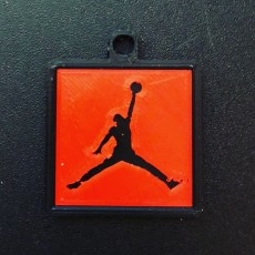 Picture of print of Jumpman Silhouette Keychain