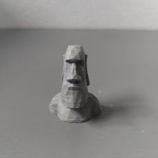 Picture of print of Low Poly Moai