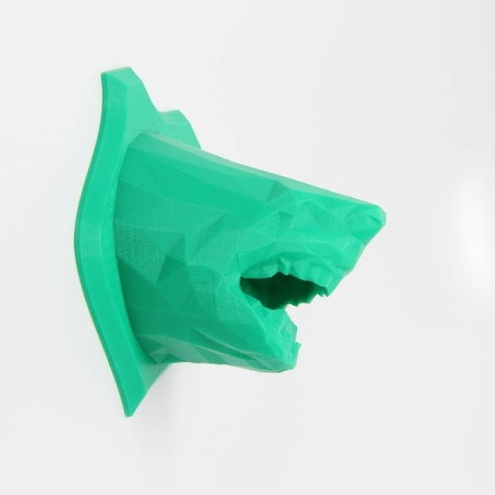 Low Poly Shark Wall Trophy