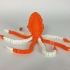 Articulated Cuttlefish! Ball-joint articulated octopus Remix! print image