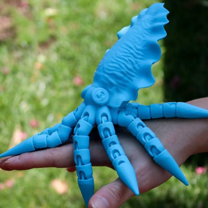 Articulated Cuttlefish! Ball-joint articulated octopus Remix!