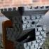 Brick Dice Tower with Fold-Up Wooden Drawbridges image