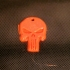 Punisher Keychain Ornament print image