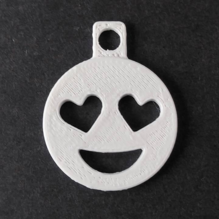 Heart Eyes Emoji Keychain Addon