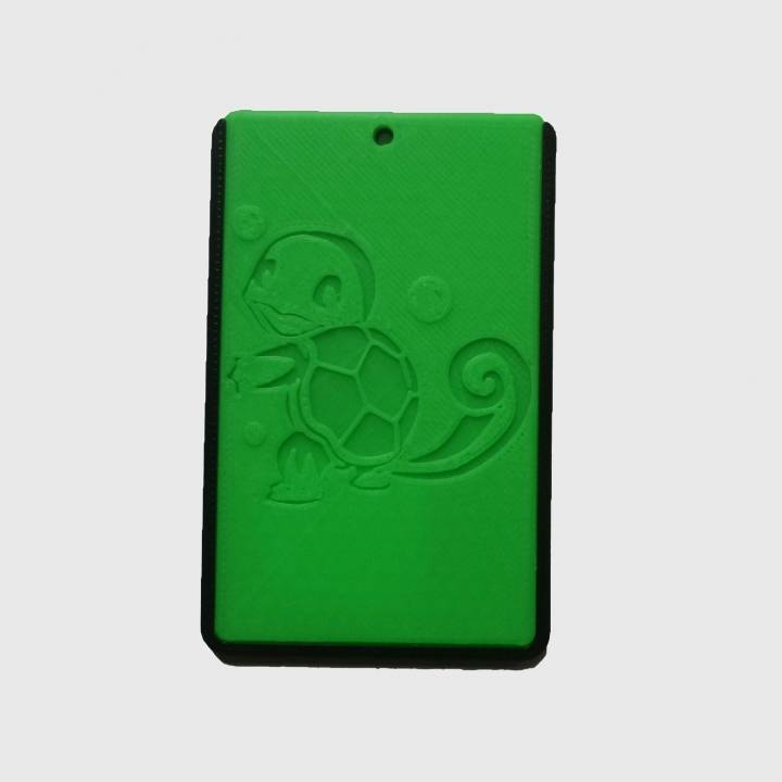 POKEMON - SQUIRTLE - ID card holder Credit Card Bus card case keyring