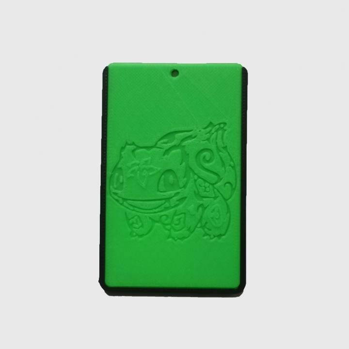 pokemon bulbasaur id card holder credit card bus card case keyring image - Card Holder With Keyring
