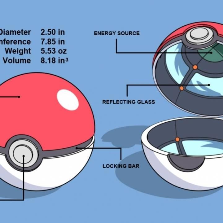display pokeball from pokemon