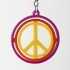 Gyro earrings with Peace sign image