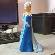 Picture of print of Elsa from 2013 Frozen