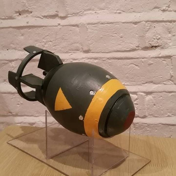 3d Printable Fallout Mini Nuke By Mitchell James Chamberlain