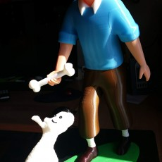 Picture of print of Tintin and Snowy This print has been uploaded by Alex