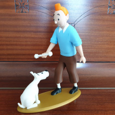 Picture of print of Tintin and Snowy This print has been uploaded by Paul Hollis