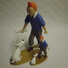 Picture of print of Tintin and Snowy