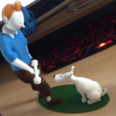 Picture of print of Tintin and Snowy This print has been uploaded by annelore vanderroost