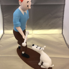 Picture of print of Tintin and Snowy This print has been uploaded by David Waugh