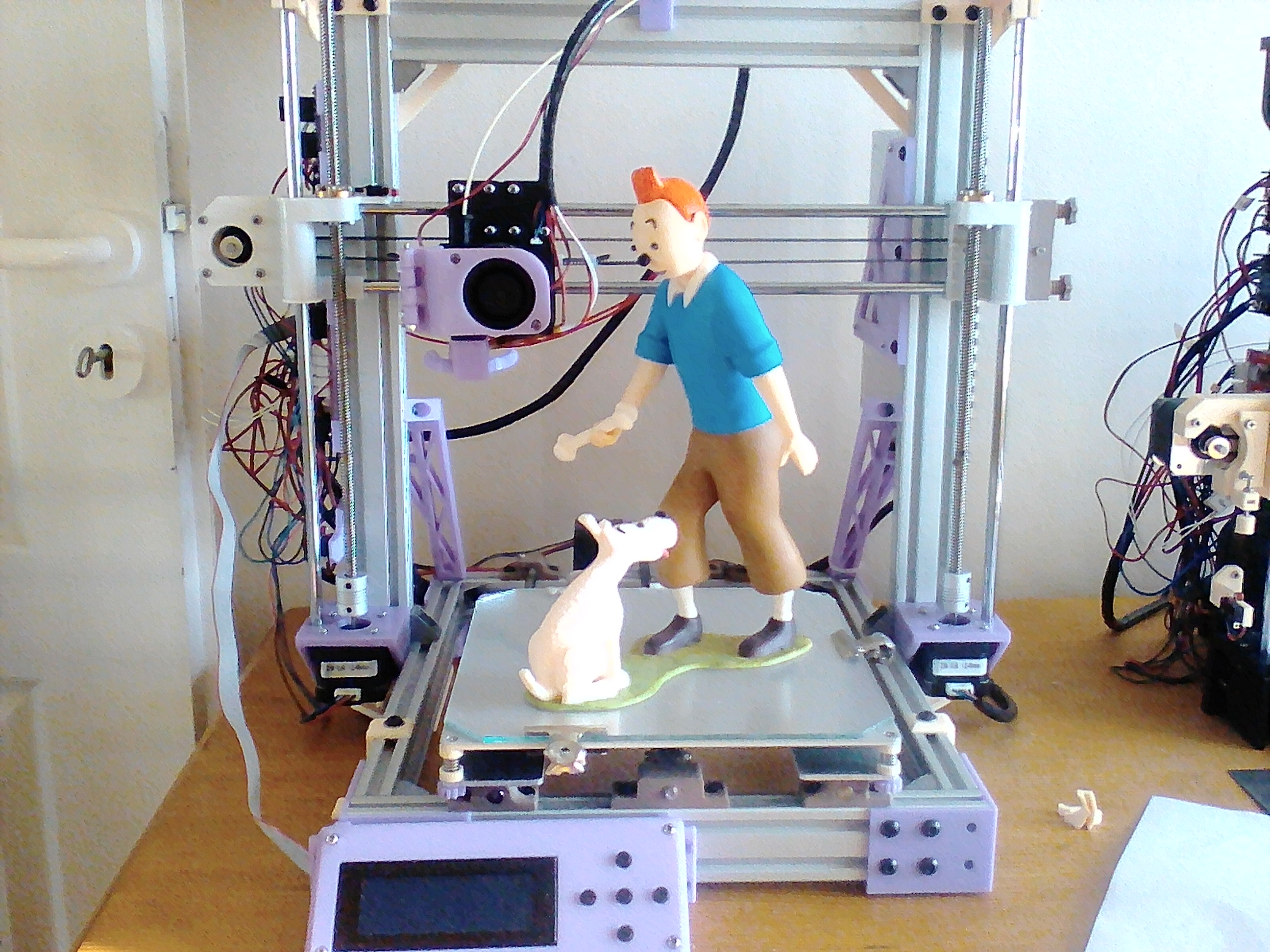 3D Printable Tintin and Snowy by Steve Solomon