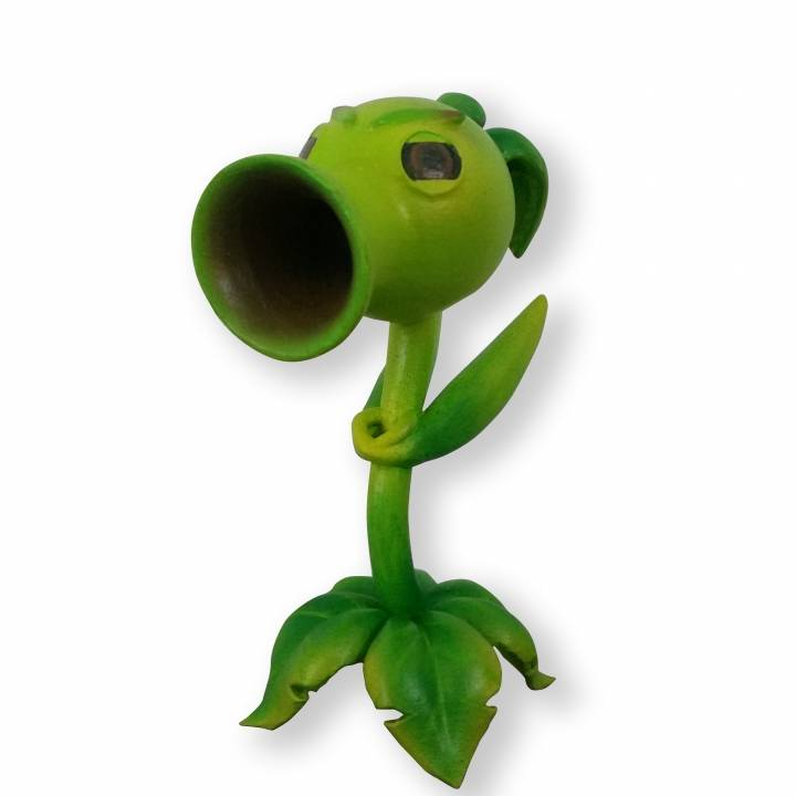 3D Printable Peashooter (Plants Vs Zombies Garden Warfare) by