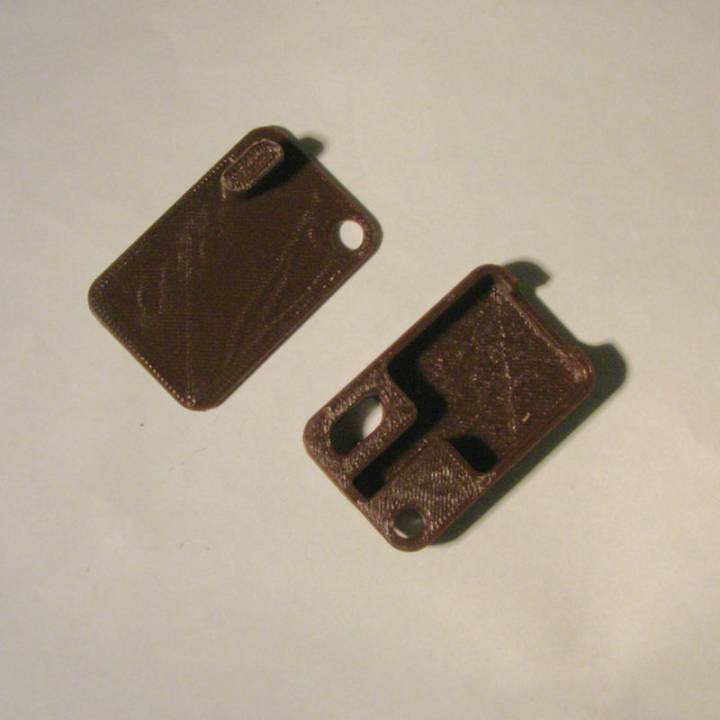 Square card reader keychain case