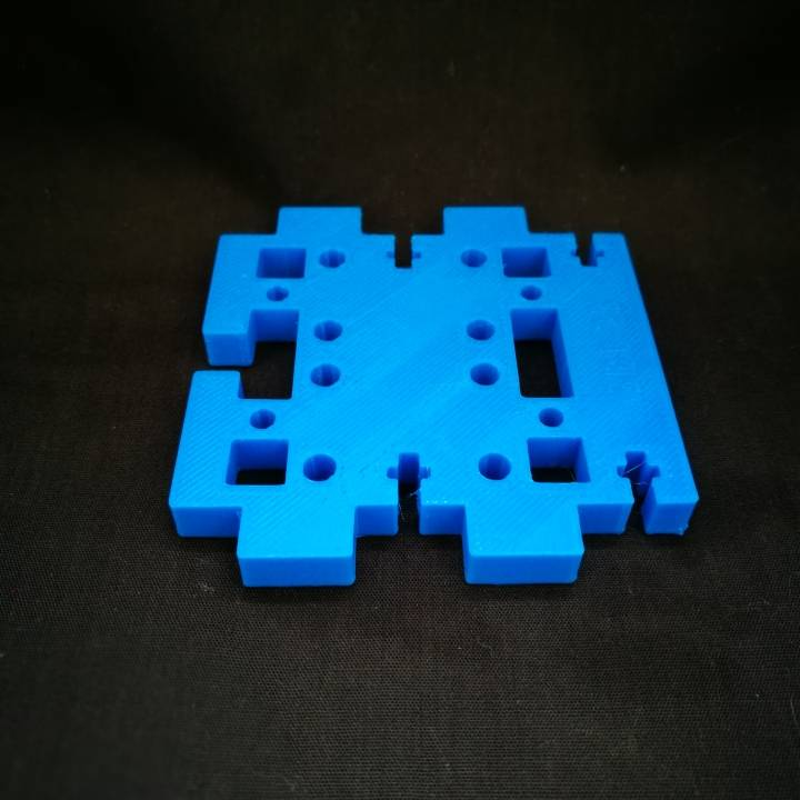 photo relating to Prusa Printable Parts titled 3D Printable GEEETech Prusa i3X - Corrected Pieces through Nuno Faria