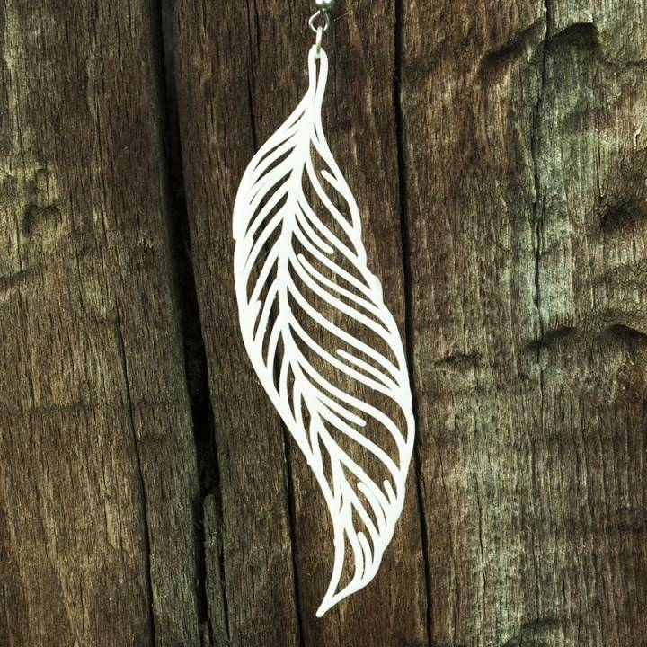 Earrings Feather 2