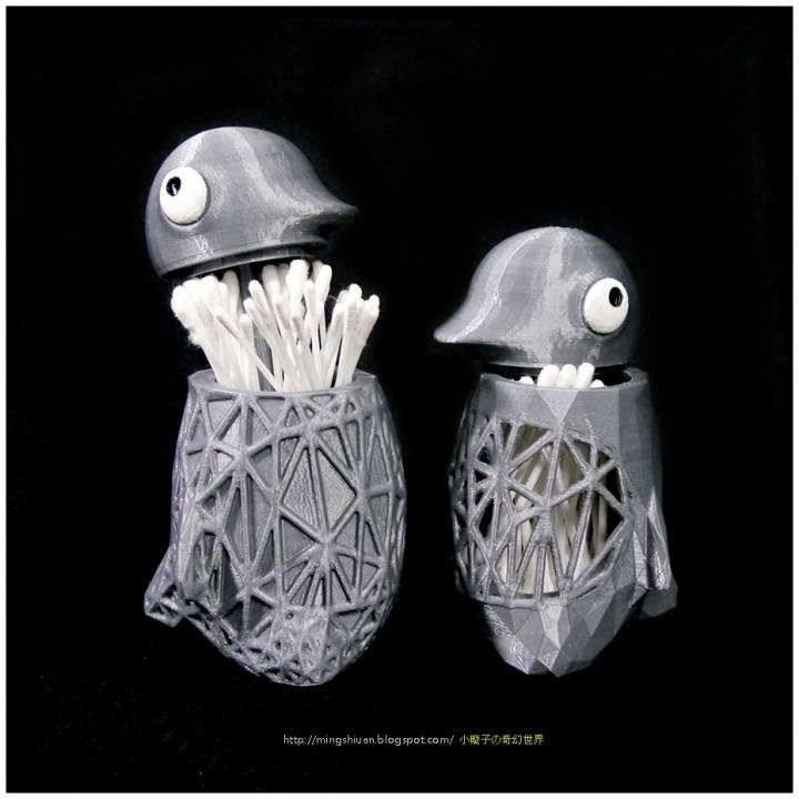 Penguin Cotton Swab Holder