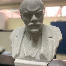 Picture of print of Lenin in St Petersburg, Russia