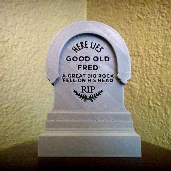 Haunted Mansion Tombstone - Here Lies Good Old Fred