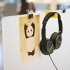 Headphone holder for office desk divider primary image