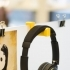 Headphone holder for office desk divider image