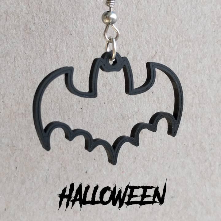 Earrings Halloween Bat 1