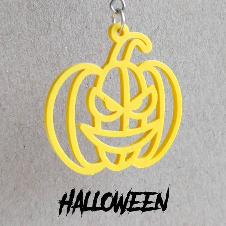 Earrings Halloween Pumpkin 2