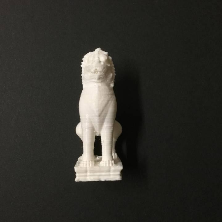 Lion at The Guimet, Paris