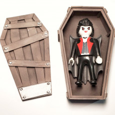 Picture of print of Halloween Coffin pot decoration