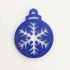 Christmas Tree Ornament with Snowflakes image