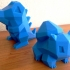 Low-Poly Bulbasaur - Multi and Dual Extrusion version print image