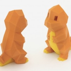 Low-Poly Charmander - Multi and Dual Extrusion version