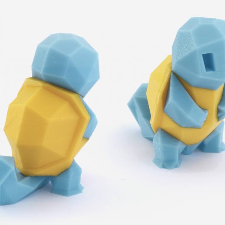 Low-Poly Squirtle - Multi and Dual Extrusion version