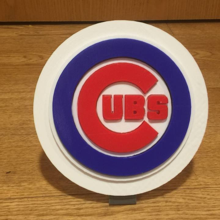 It is a photo of Printable Chicago Cubs Logo for white